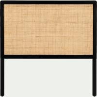 Tête de lit cannage L100cm - noir-GALANT